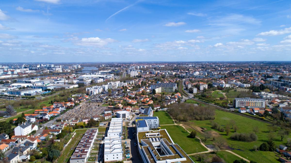 Où investir à Nantes – vue aérienne sur Rezé