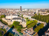 Simulateur de rentabilité locative – vue aérienne sur le centre-ville de Nantes