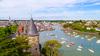 Résidence secondaire près de Nantes – Vue aérienne du port et du château de Pornic