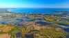 Résidence secondaire près de Nantes – Vue aérienne La Baule-Escoublac depuis les marais Salants de Guérande
