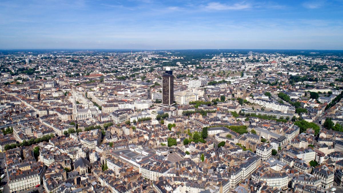 Grand Bellevue à Nantes – vue aérienne sur Nantes