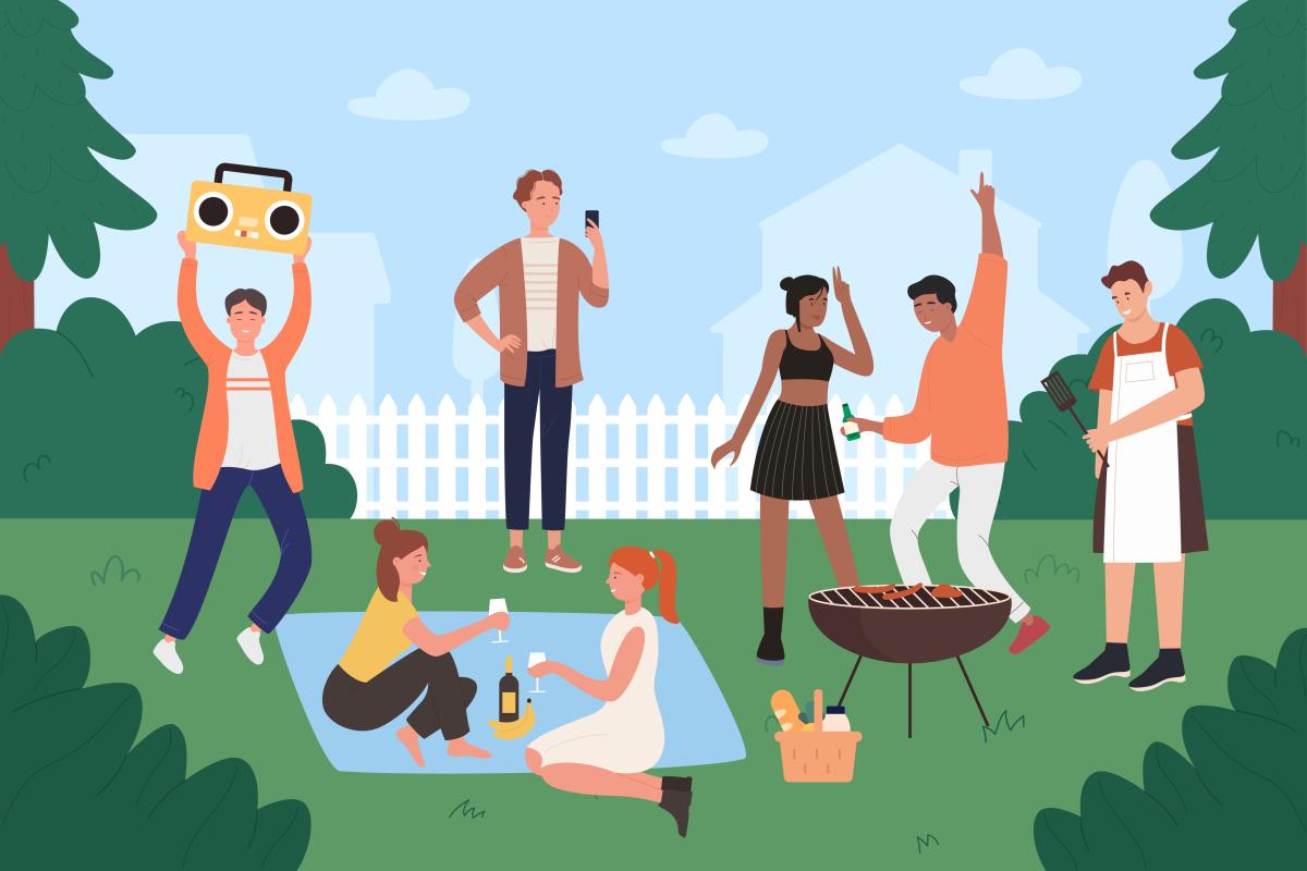 Plaisance  Orvault – illustration d'une fête de voisinage