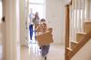 Plaisance  Orvault –  Une famille heureuse entre dans son nouvel appartement