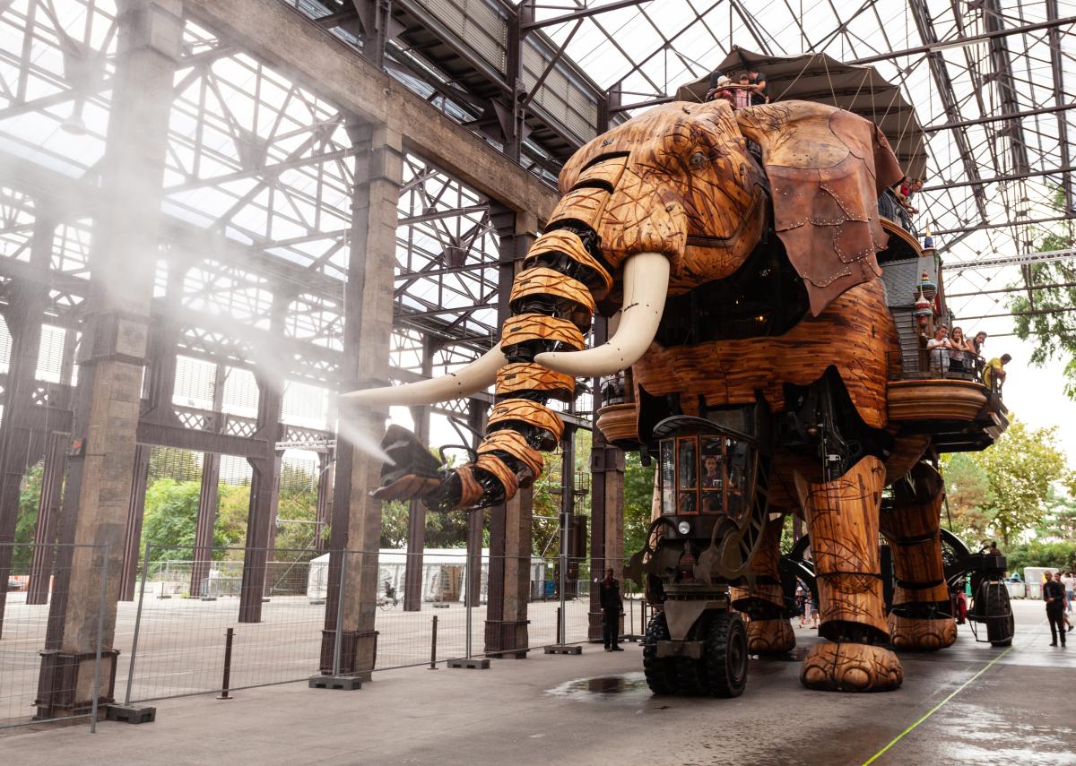 Hangar 32 Nantes – l'Éléphant, la plus célèbre des machines de l'Île